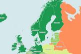 Mapa demokratija Evropa