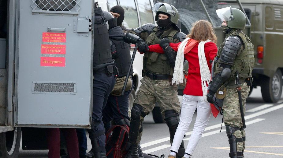 Protesty na Białorusi trwają od sfałszowanych wyborów w 2020 r
