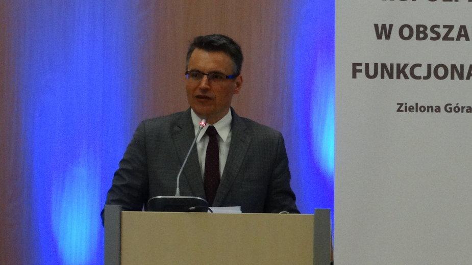 Janusz Kubicki na konferencji Współpraca w obszarach funkcjonalnych