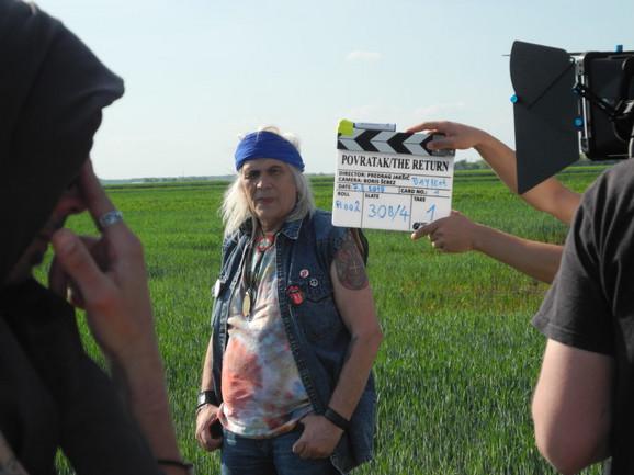 Bora Đorđević na snimanju