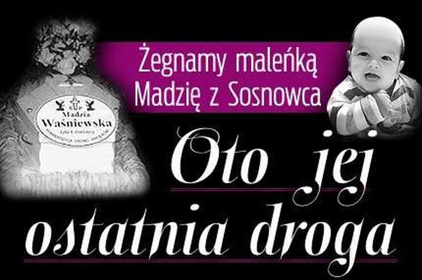 Żegnamy maleńką Madzię z Sosnowca. Oto jej ostatnia droga