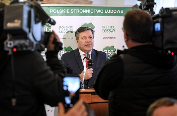 Jamusz Piechociński podczas posiedzenia Rady Naczelnej PSL