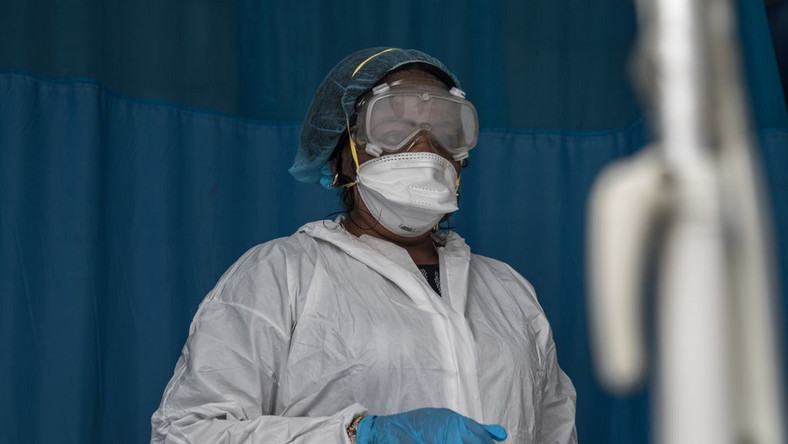 A health worker on the front line of Nigeria's battle to contain the spread of the coronavirus disease [NCDC]