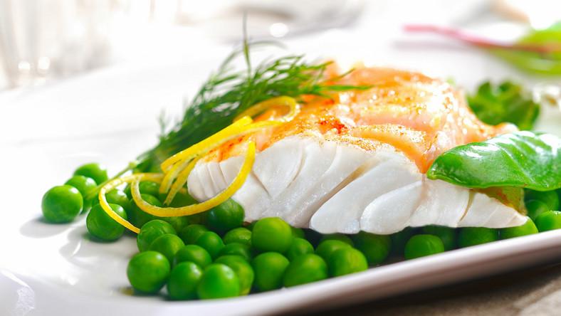 Ryba i zielony groszek