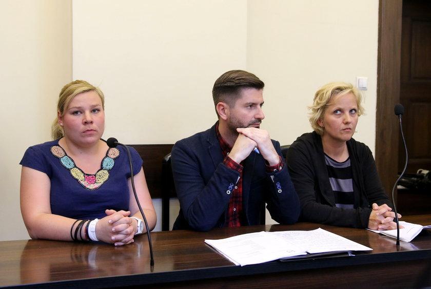 Pani Liwia podczas rozprawy