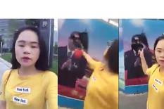 Kineskinja polivanje mastilom