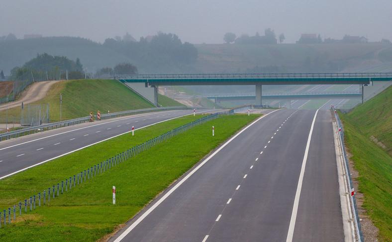 Droga ekspresowa S7 na odcinku od węzła Szczepanowice do węzła Widoma