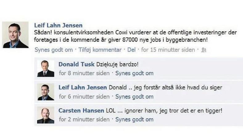 Duńska gazeta żartuje z Donalda Tuska