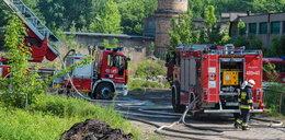 Pożar hali w Pabianicach. Ponad 20 zastępów straży gasi ogień