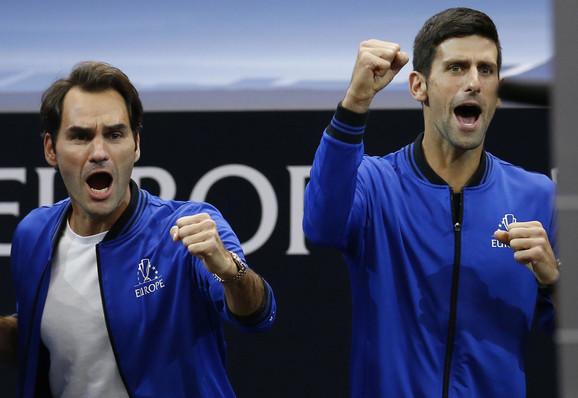 Rodžer Federer i Novak Đoković