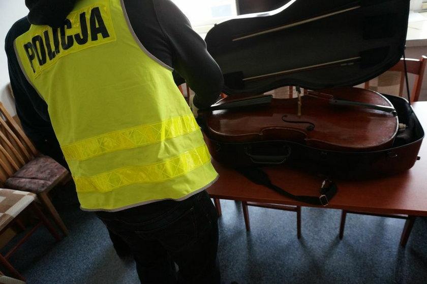 Policjanci odzyskali zabytkową wiolonczelę
