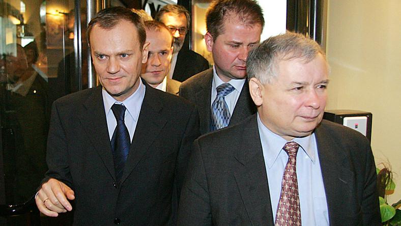 Kaczyński ogląda plecy Tuska. Z jakiej odległości?