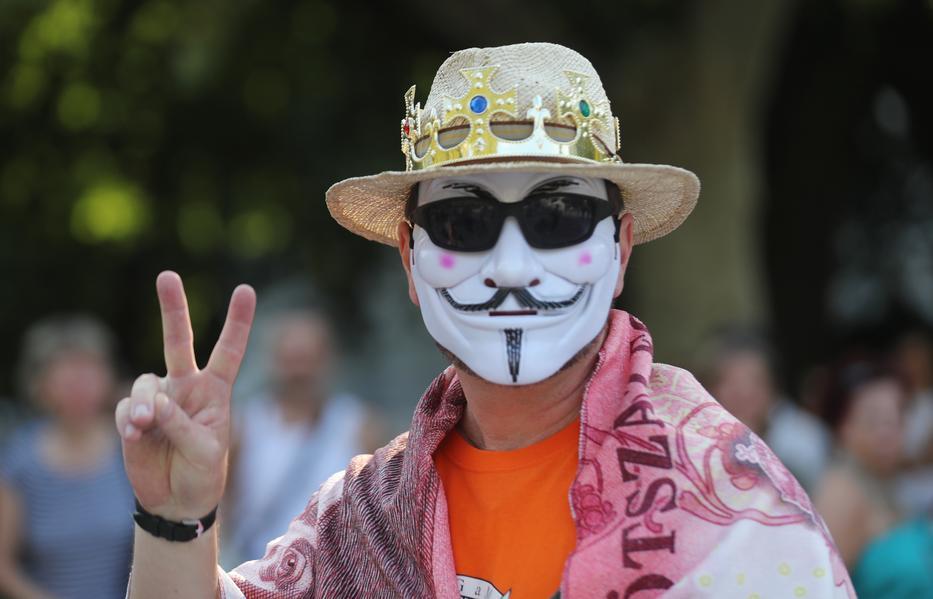 A dr. Gödény által szervezett tüntetés / Fotó: Zsolnai Péter