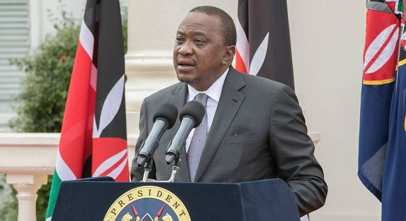 File image of President Uhuru Kenyatta when he announced part of his second term cabinet on Friday, January 5, 2018.