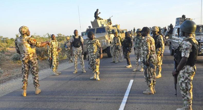 Troops kill terrorists, recover weapons in Yobe – Army. [Twitter/@DejiAdesogan]