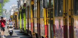 W centrum stanęły tramwaje