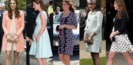 Oto ciążowe kreacje księżnej Kate. Ale styl!