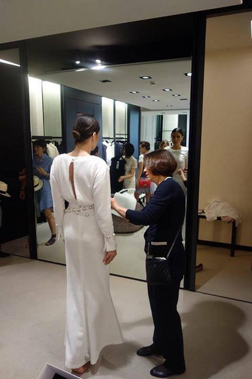 Joanna Horodyńska w sukni ślubnej