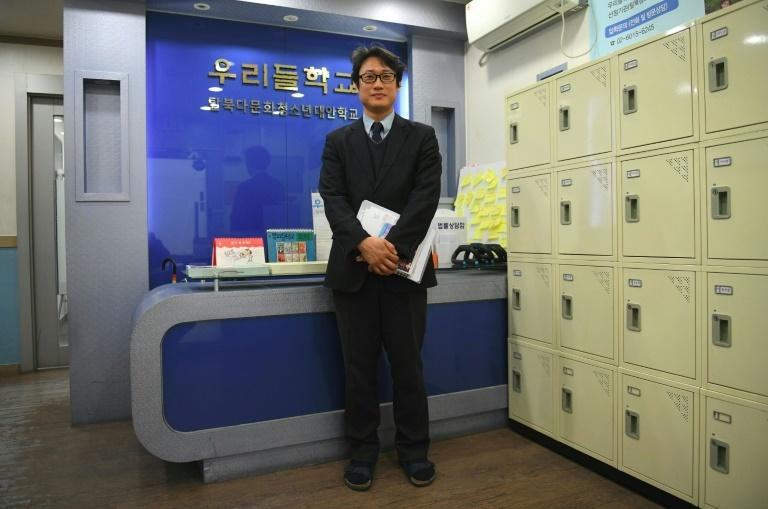 South Korean principal Yun Dong-ju posing at Wooridul School in Seoul, an educational haven for North Korean defectors too old to go to appropriate state schools