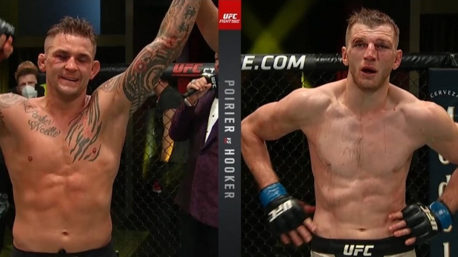 Niesamowita walka wieczoru UFC on ESPN 12! Poirier lepszy od Hookera po wojnie w oktagonie!