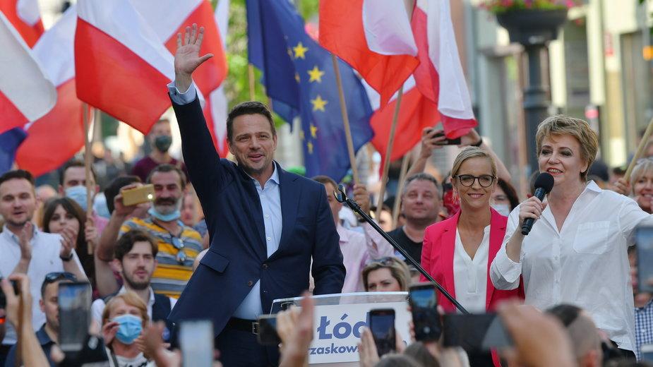 Rafał Trzaskowski i prezydent Łodzi Hanna Zdanowska