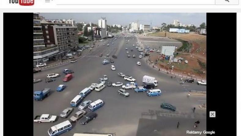 skrzyżowanie w Etiopii