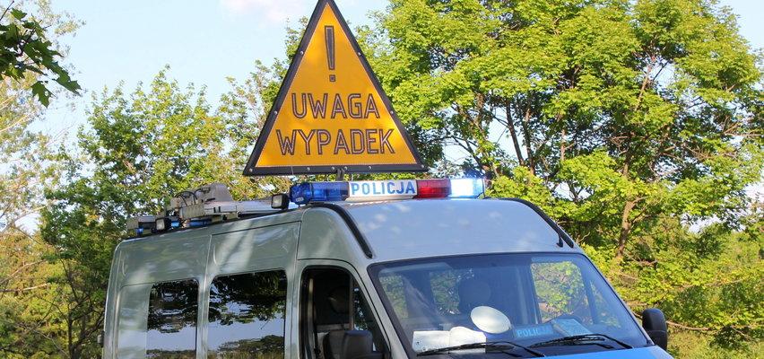 Wypadek szkolnego autobusu w Łódzkiem