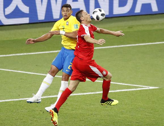 Detalj sa meča Srbije - Brazil