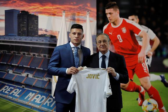 Luka Jović i Florentino Perez