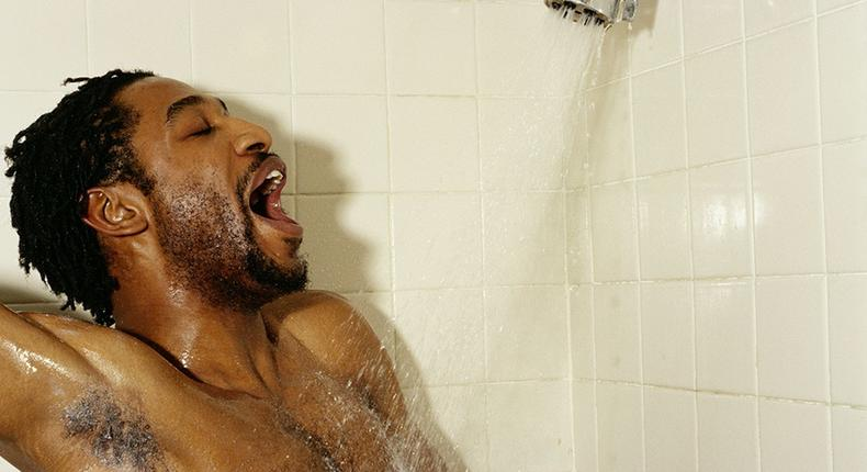 Man in the shower (Courtesy)