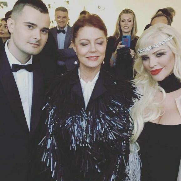 Ćićolina sa sinom Ludvigom Kunsom i Suzan Saradon