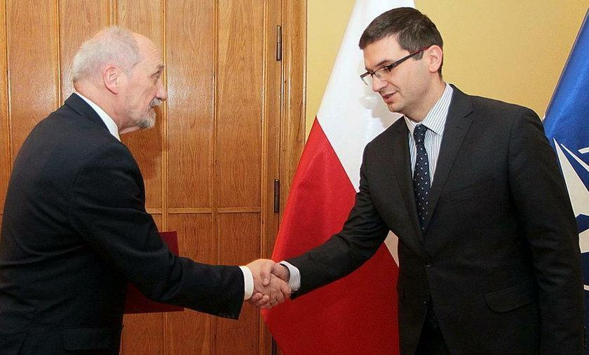 Były minister Antoni Macierewicz i Dominik Smyrgała