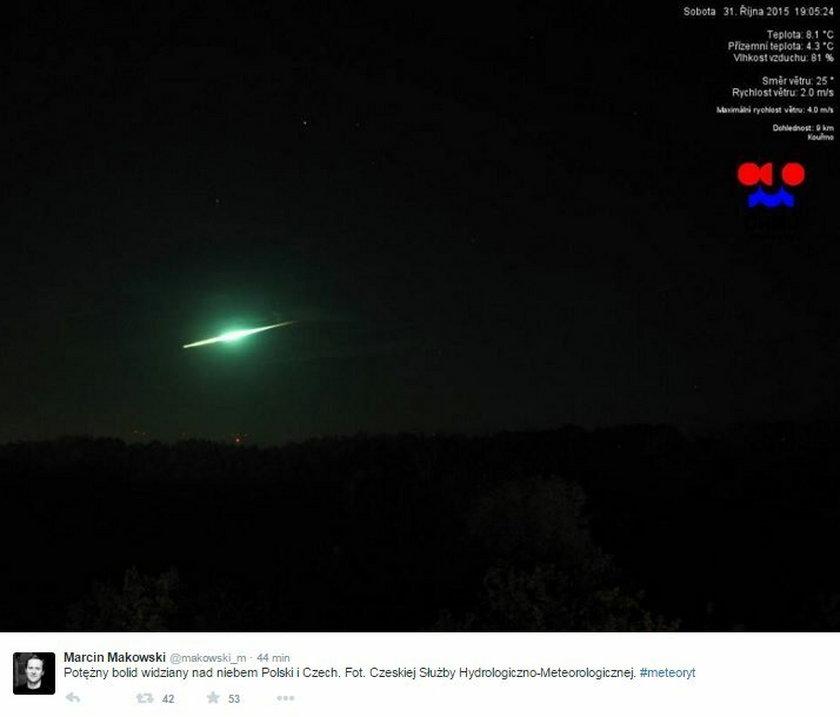 UFO nad Polską rozświetliło niebo