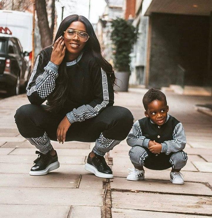 Tiwa Savage and her son, Jammal