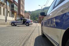 Policija u ulici Vuka Karadžića