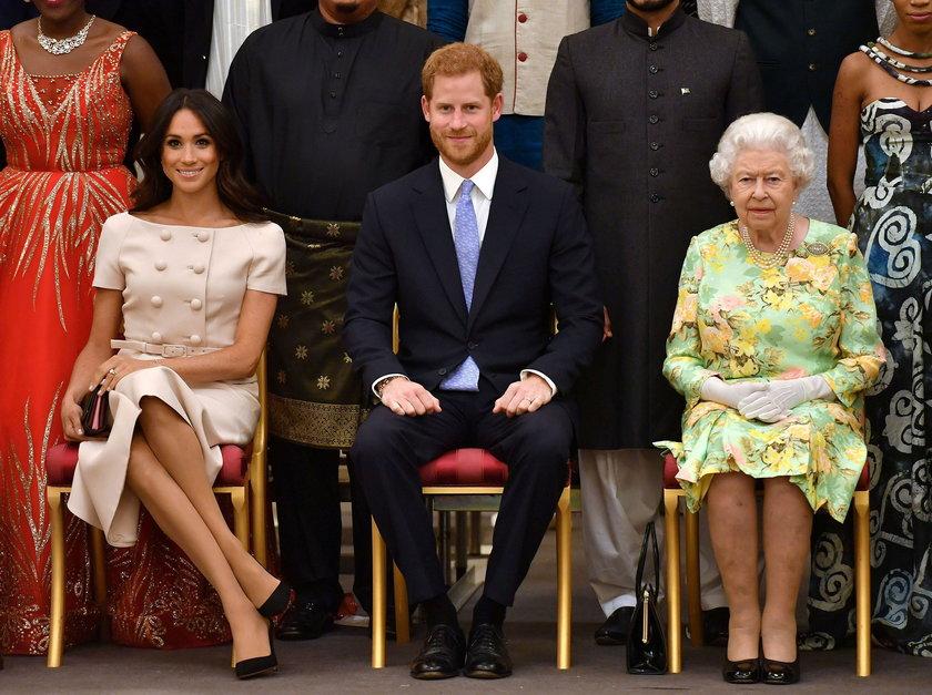 Meghan, Harry i królowa Elżbieta II