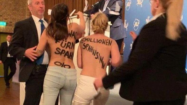Jens Spahn zaatakowany przez aktywistki Femen / screen