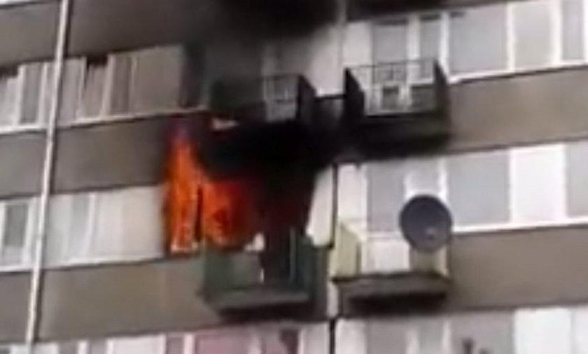 Pożar we Włocławku