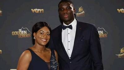 Nigerian striker Paul Onuachu has tied the knot with his Ghanaian girlfriend Tracy Acheampong