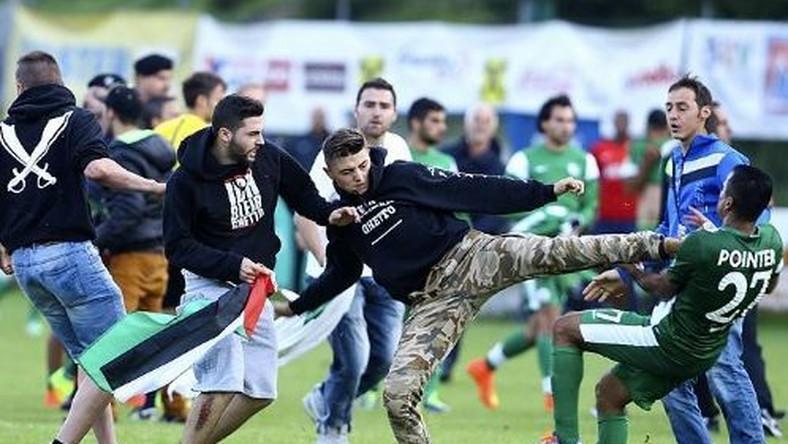 Atak palestyńskich kiboli na piłkarzy z Izraela