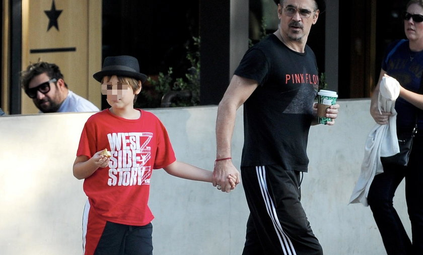 Colin Farrell na spacerze z synem