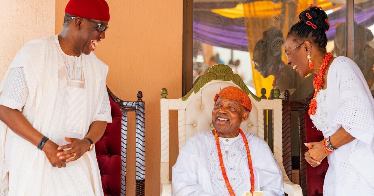 Okowa felicitates with Asagba of Asaba at 95 - Pulse Nigeria