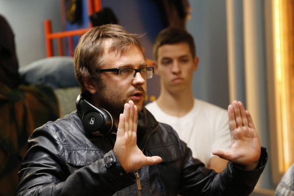 Mladen Đorđević na snimanju filma