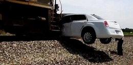 Pociąg zmiażdżył limuzynę. Przerażający film
