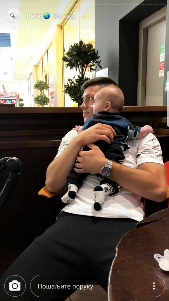 Luka Jović sa sinom Davidom