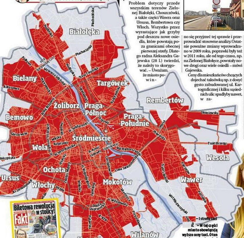 Radni i mieszkańcy chcą powiększenia pierwszej strefy taksówkowej