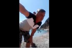 """(VIDEO) """"NEĆETE SE KUPAT OVĐE!"""" Gramzivi Crnogorac hteo je otera meštane sa plaže, ali nije očekivao OVAKAV EPILOG"""