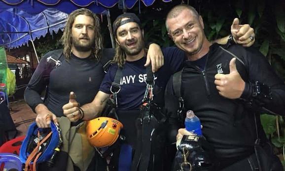 Erik Braun, Miko Pasi i Klaus Rasmusen, ronioci koji su učestvovali u spasavanju poslenje grupe dečaka
