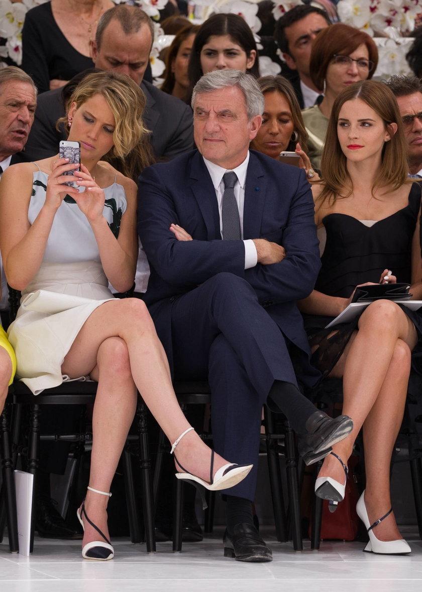 Jennifer Lawrence i Emma Watson na pokazie Diora