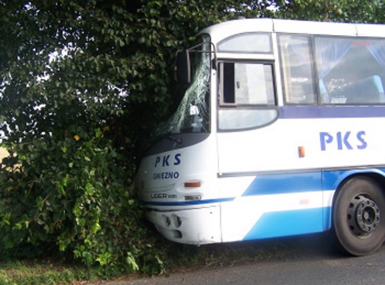 Wypadek autobusu PKS. Pięć osób rannych